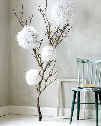 Rbol de navidad con ramas secas albero di natale con for Decoracion con ramas secas